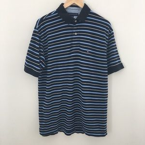 Tommy Hilfiger Large Polo Shirt Blue/White Striped